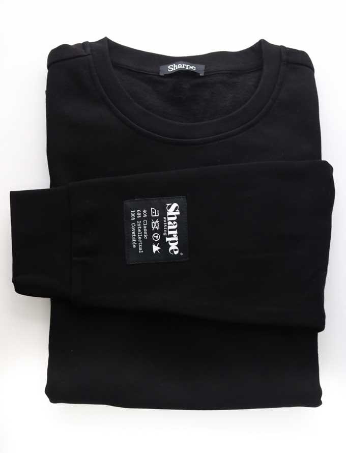 Sharpe Suiting black vintage sweatshirt