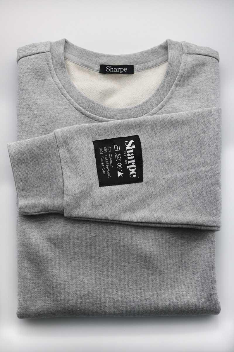 Sharpe Suiting grey vintage comfy sweatshirt flat