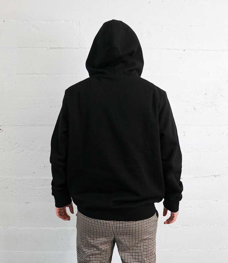 Black Vintage Label hoodie back