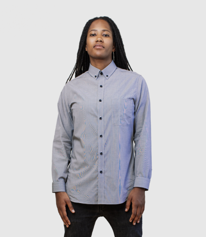 Grey button down dress shirt