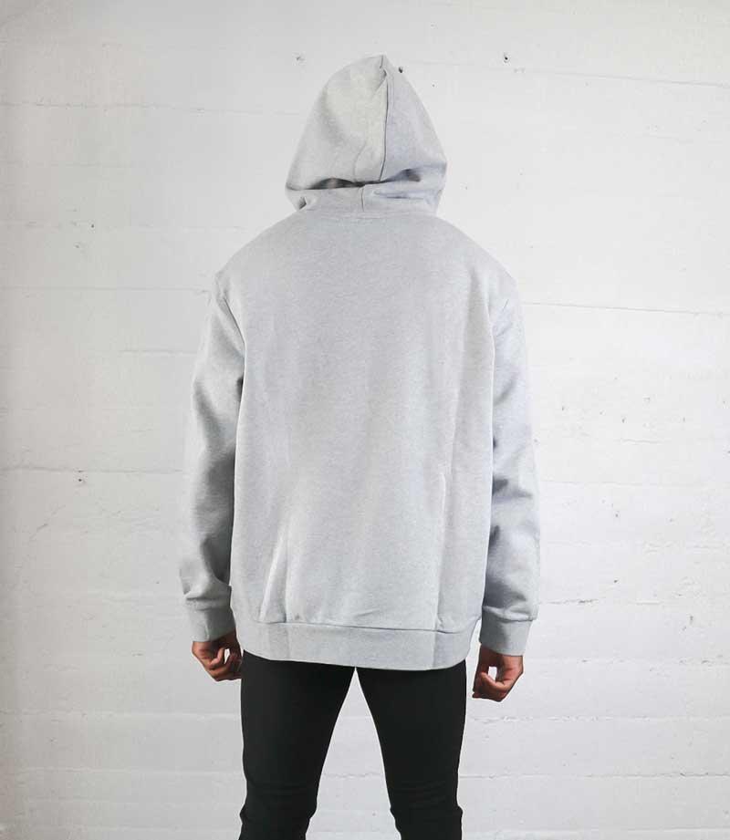 Gray Vintage Label hoodie back