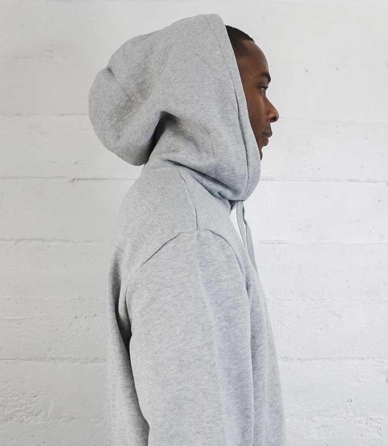 Gray Vintage Label hoodie side