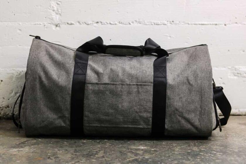 Gray Weekender Suit Carrier Bag Back