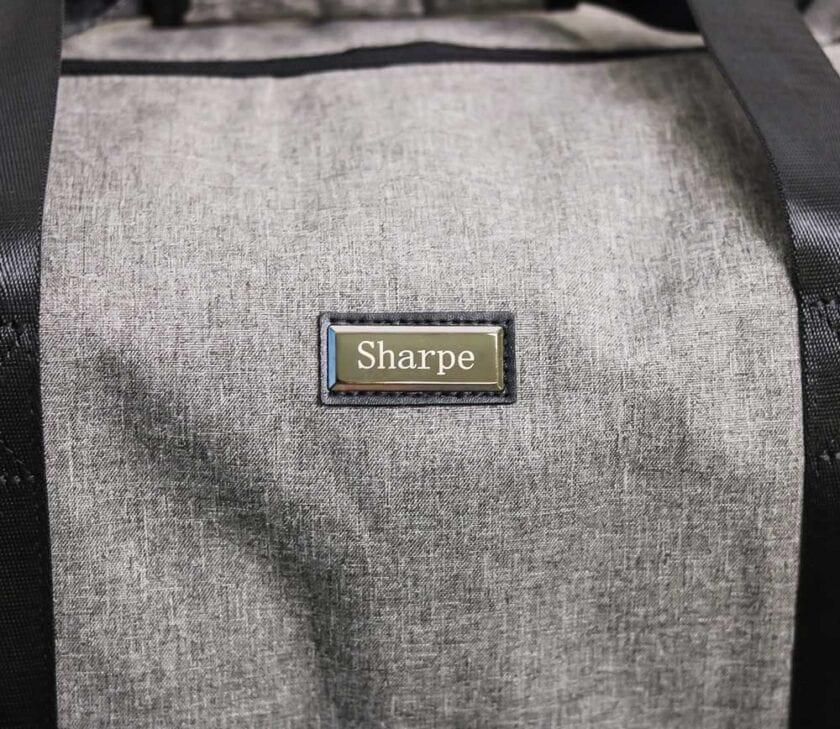 Gray Weekender Suit Carrier Bag Detail