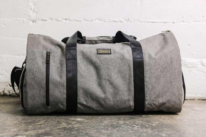 Gray Weekender Suit Carrier Bag Front