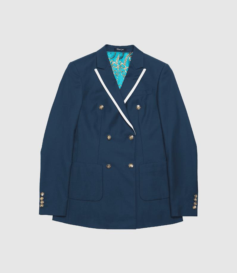 Blue sailor suit jacket