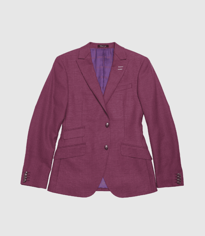 Purple Custom Suit Jacket
