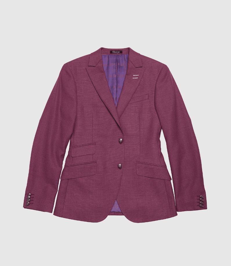 Purple Custom Suit Jacket