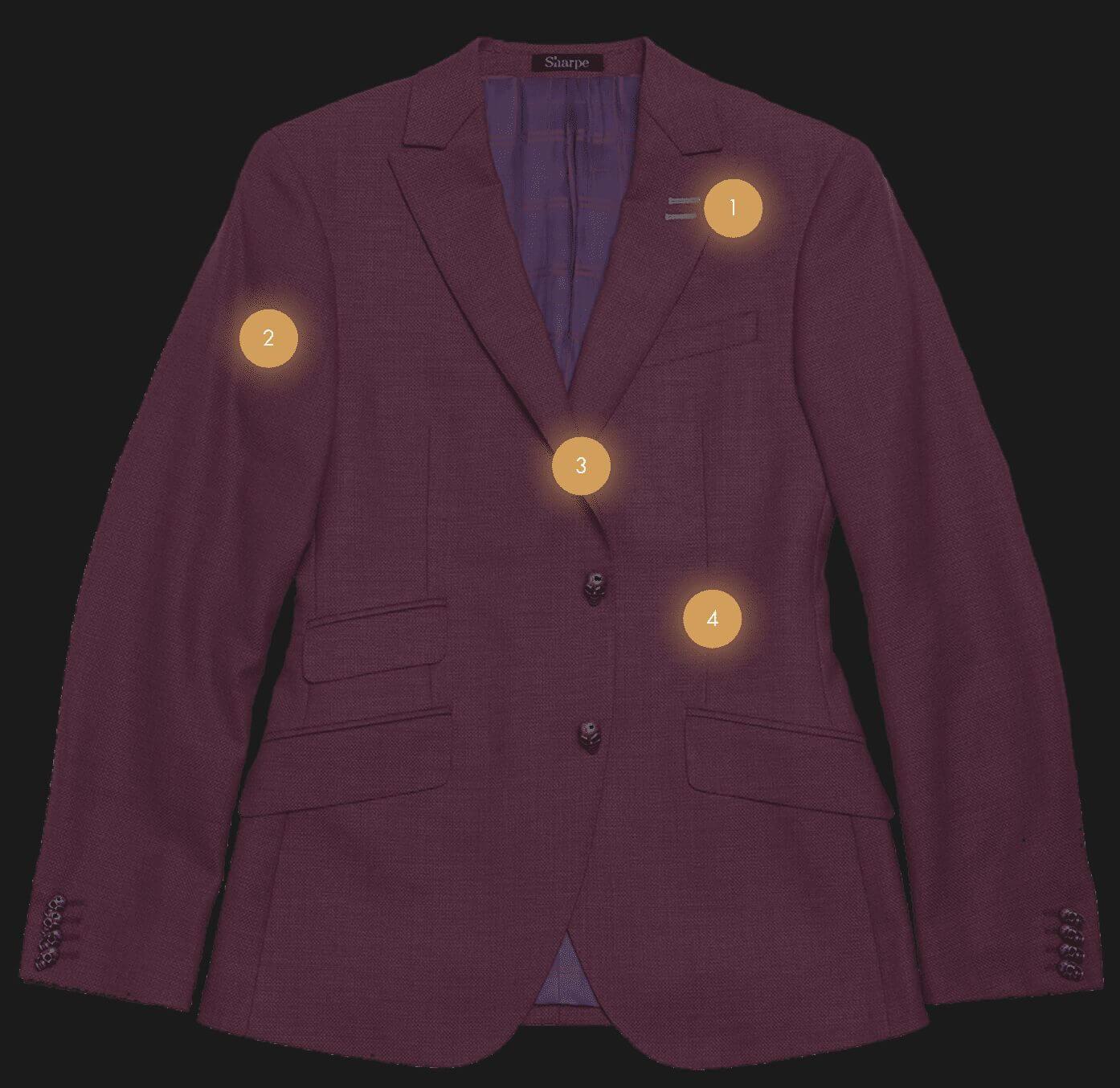 The Sharpe Experience purple suit jacket