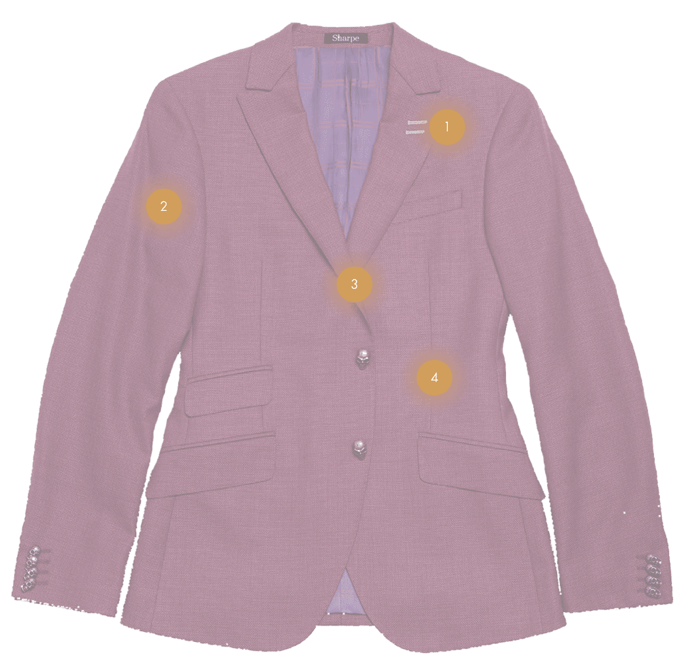 The Sharpe Experience purple suit jacket