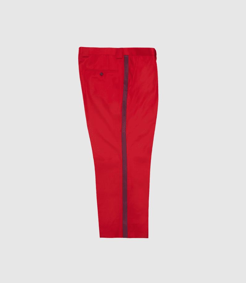 red dress pants