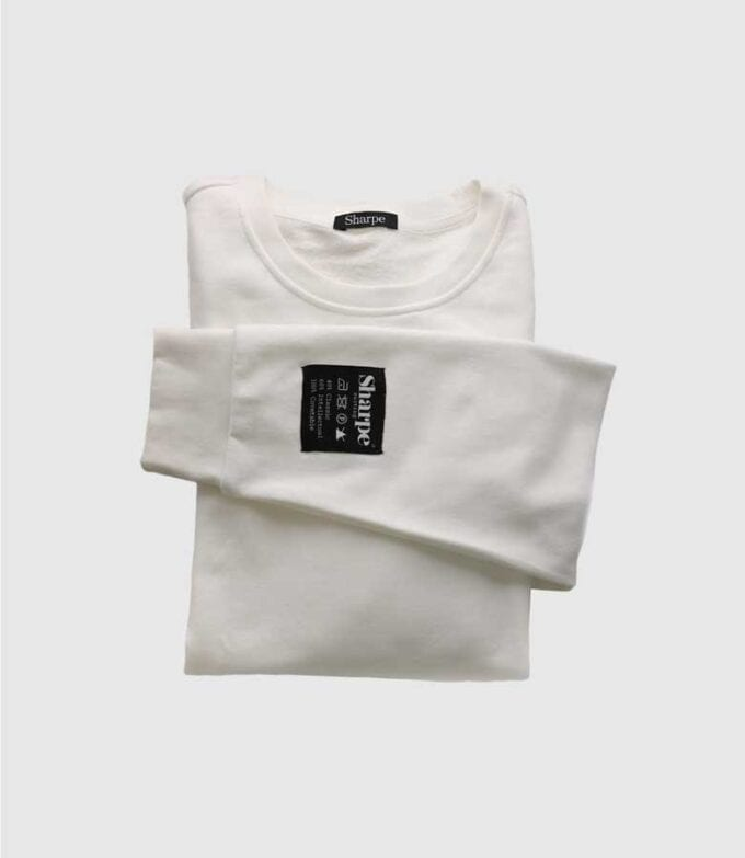 Sharpe Suiting white vintage comfy sweatshirt flat