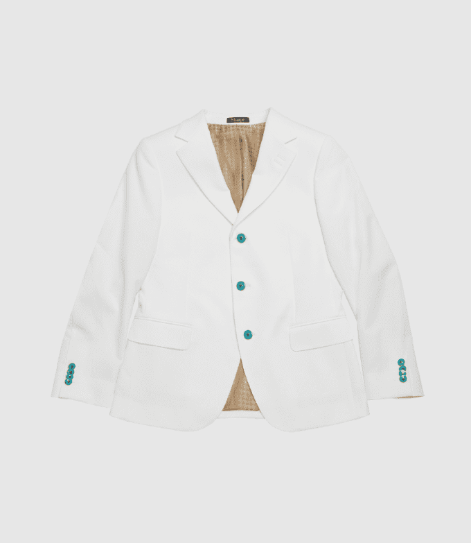 White and gold suit jacket